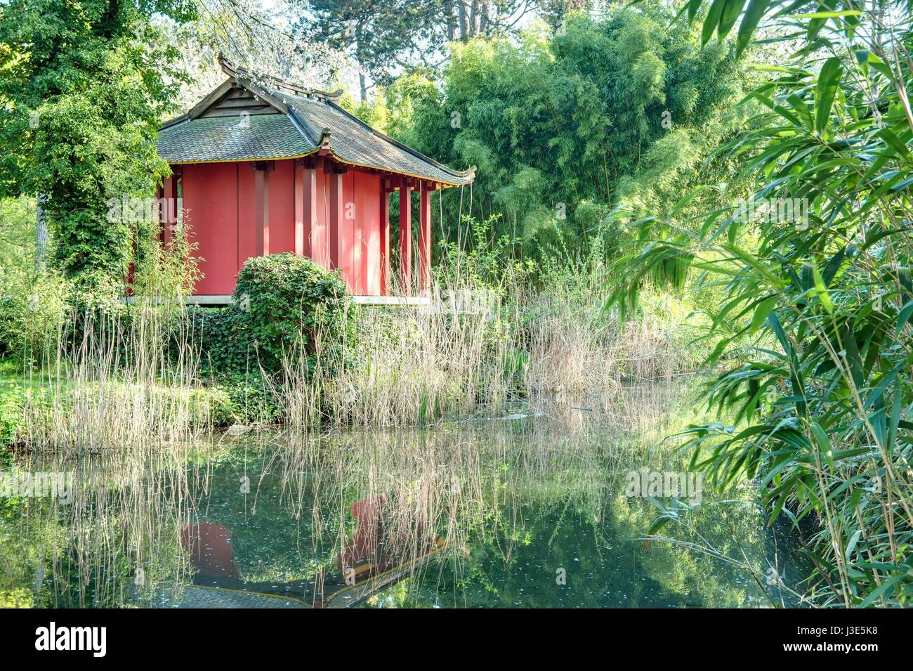 jardin porte de vincennes Paris, Bois de Vincennes, Jardin du0027agronomie tropicale - Stock Image