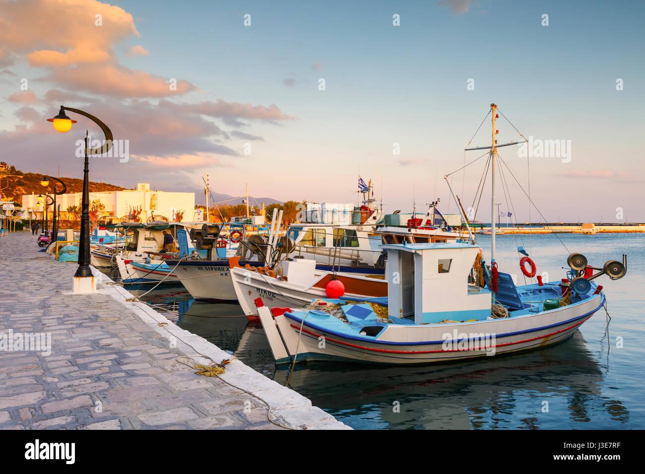 Harbour of Pythagorio town on Samos island, Greece. Stock Photo
