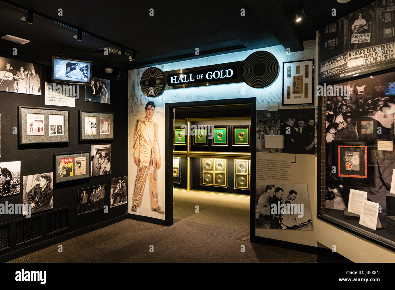 The Hall of Gold at Graceland, Memphis - Stock Image