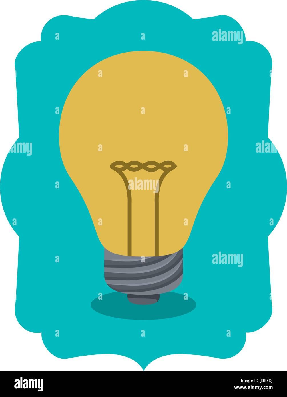 Isolated light bulb inside frame design - Stock Vector