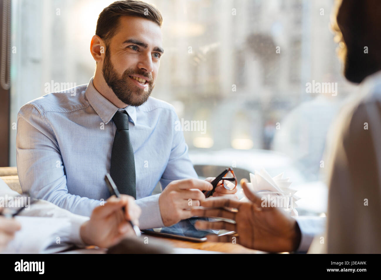 Employer at work - Stock Image