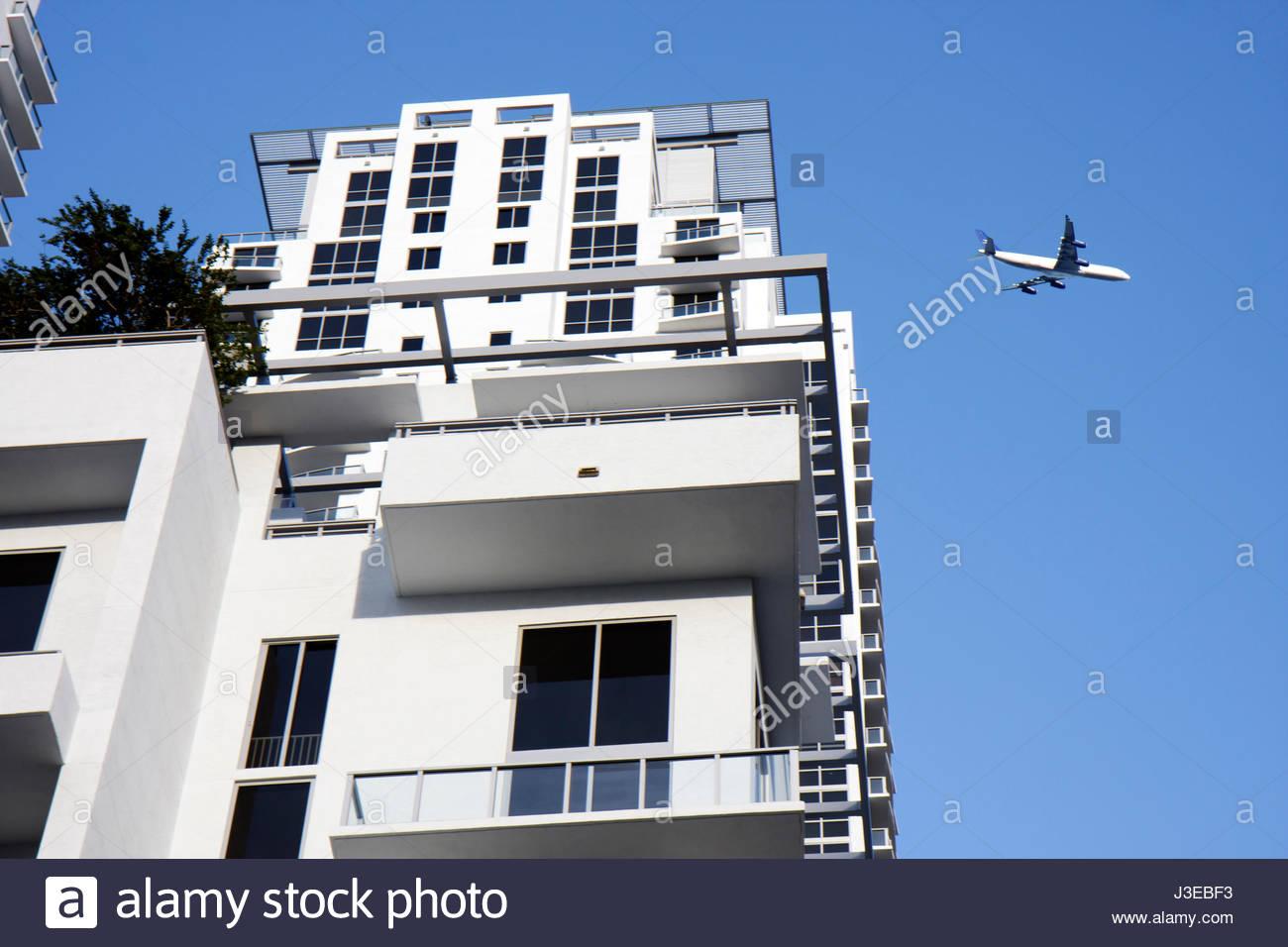 Miami Florida Brickell Area building high rise multi-family dwelling ...