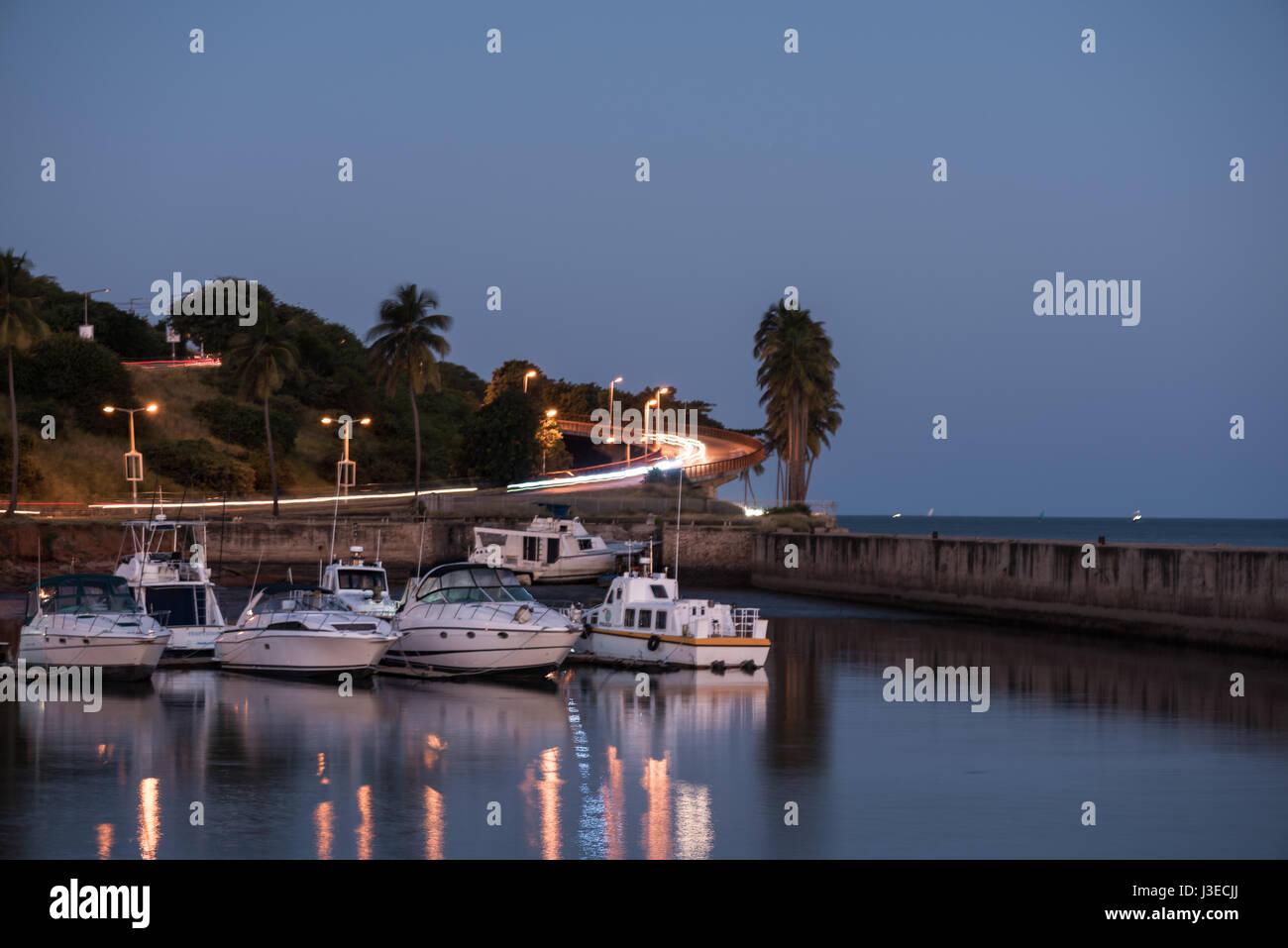 The marina in Mozambique's capital city of Maputo Stock Photo