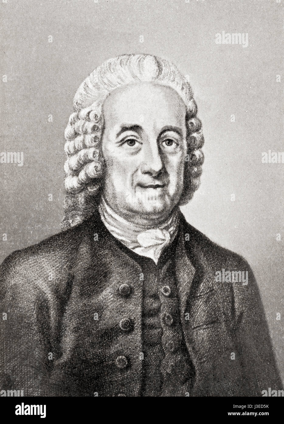Emanuel Swedenborg, 1688 - 1772. Swedish scientist, philosopher, theologian, revelator and mystic.  From Hutchinson's - Stock Image