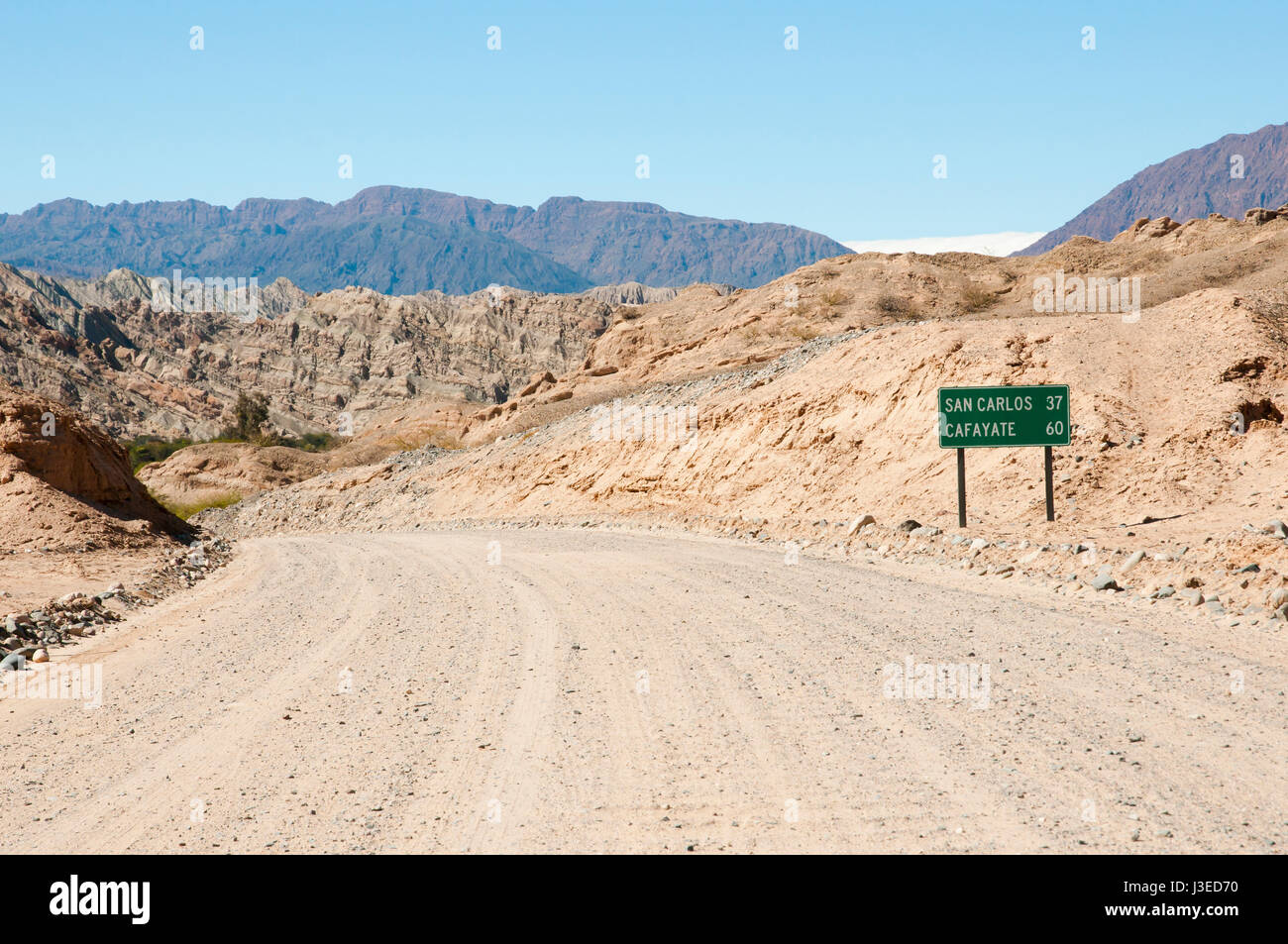 Gravel Road on Route 40 - Salta - Argentina - Stock Image