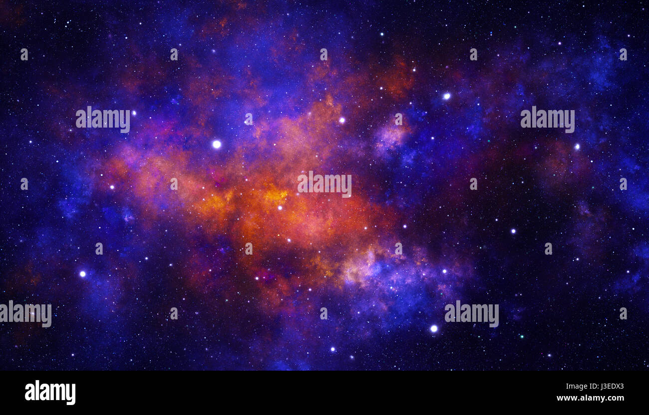 Red galaxy - Stock Image