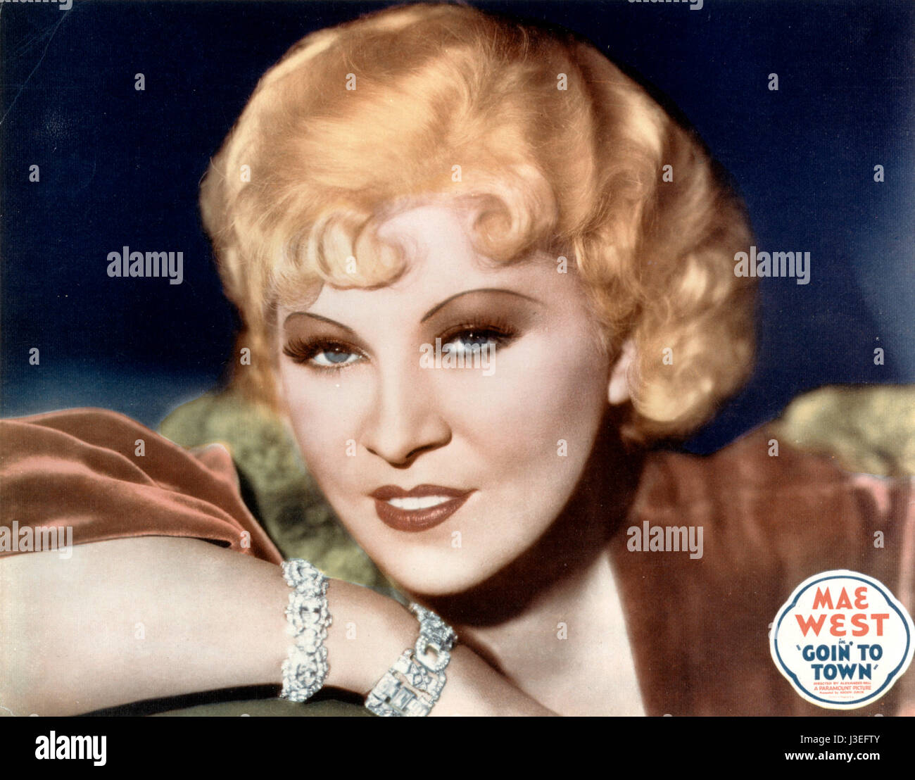 Goin' to Town  Year: 1935 USA Mae West  Director: Alexander Hall - Stock Image