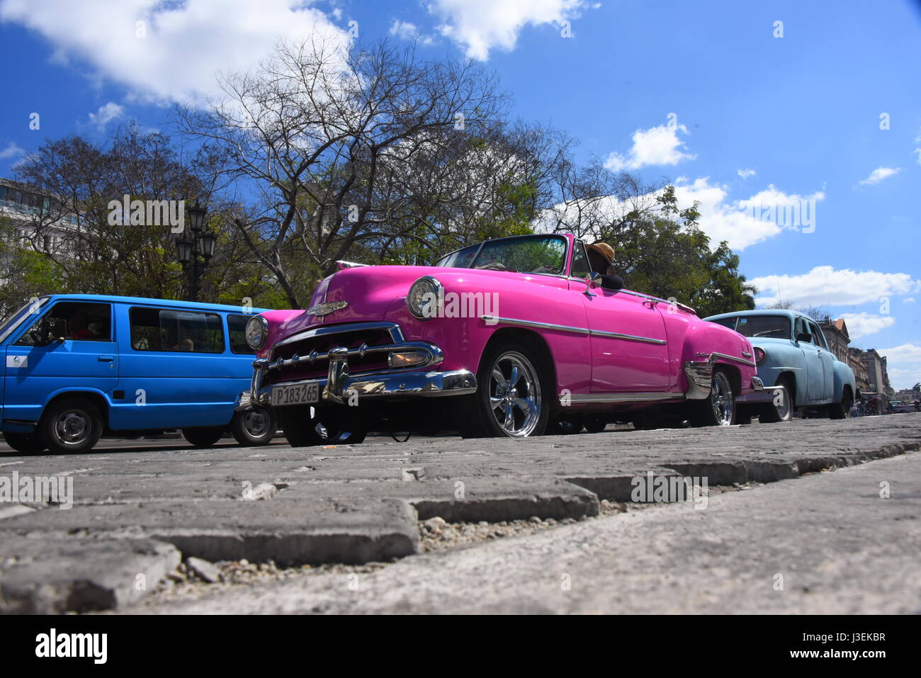 Classic American Cars In Havana Cuba Including The World Famous