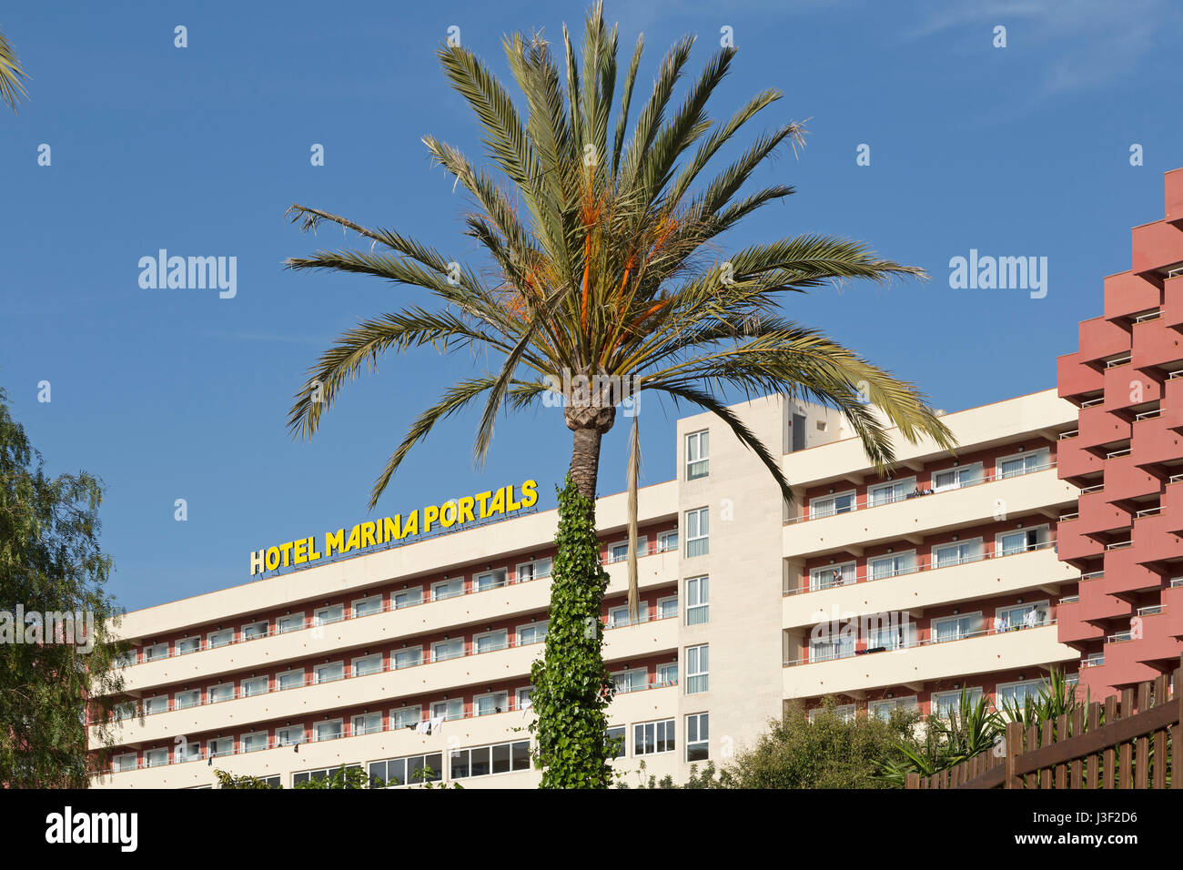 hotel Marina Portals in Portals Nous, Mallorca, Spain - Stock Image