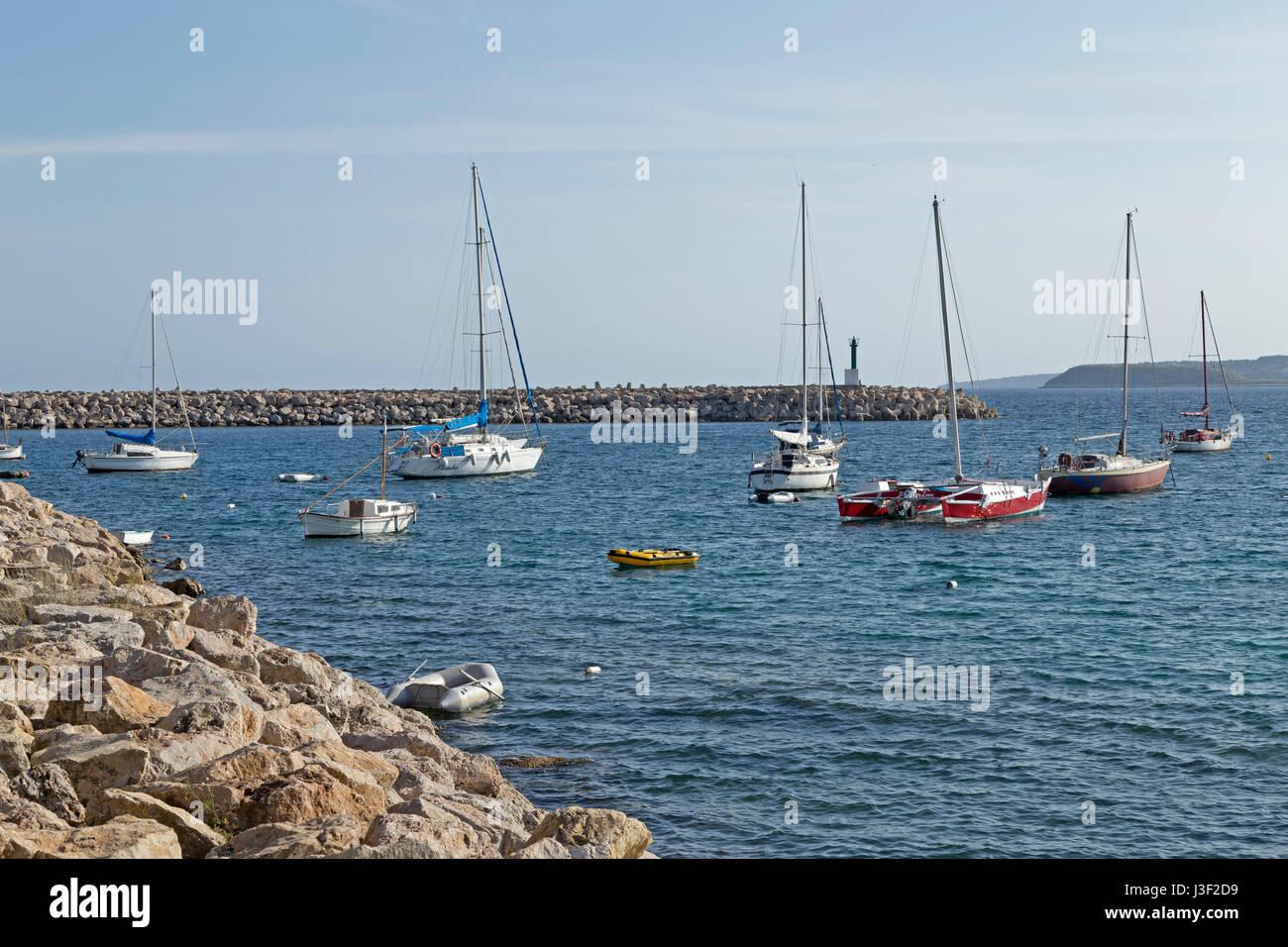 marina in Portals Nous, Mallorca, Spain - Stock Image