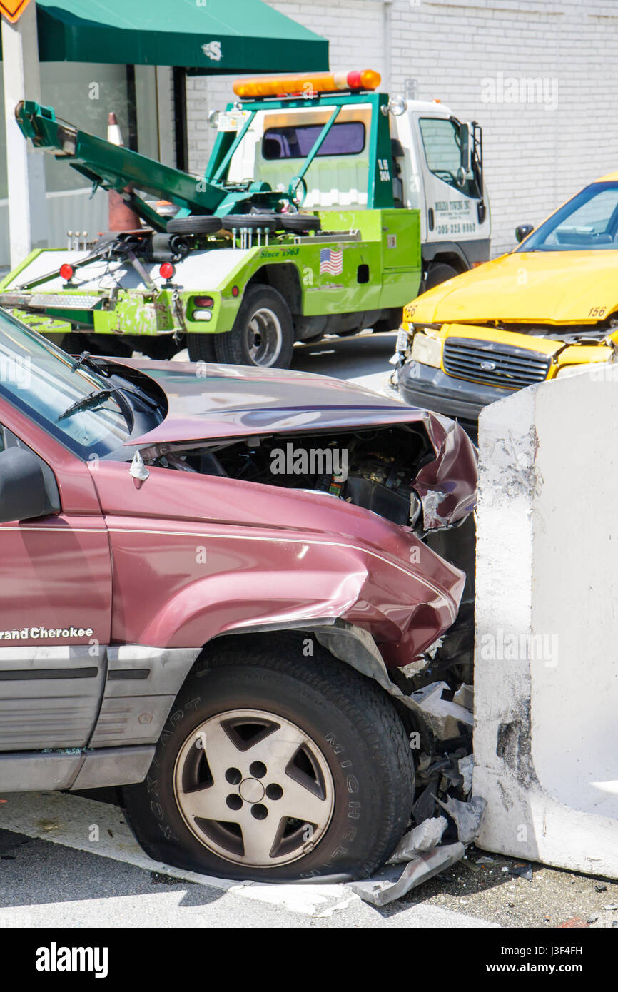 Truck Accident Cab Stock Photos & Truck Accident Cab Stock