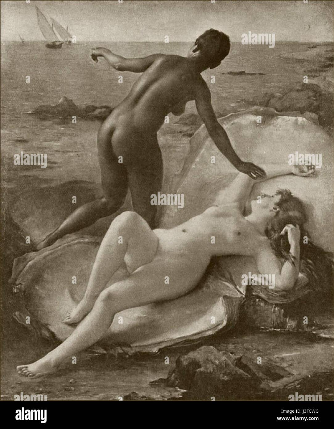 Fernand Le Quesne   Les deux perles - Stock Image