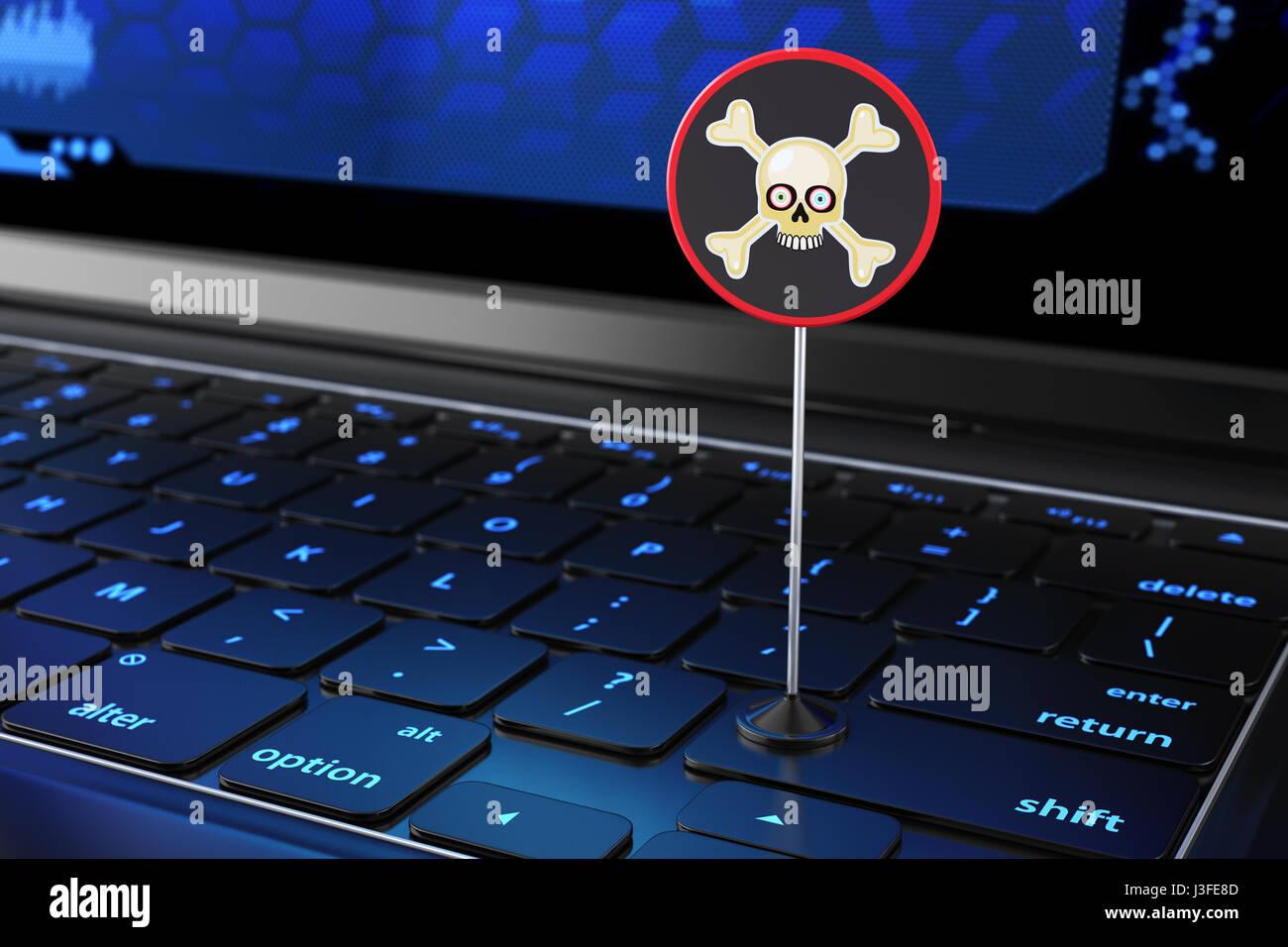 Laptop Copyright Symbol Piracy Stock Photos Laptop Copyright