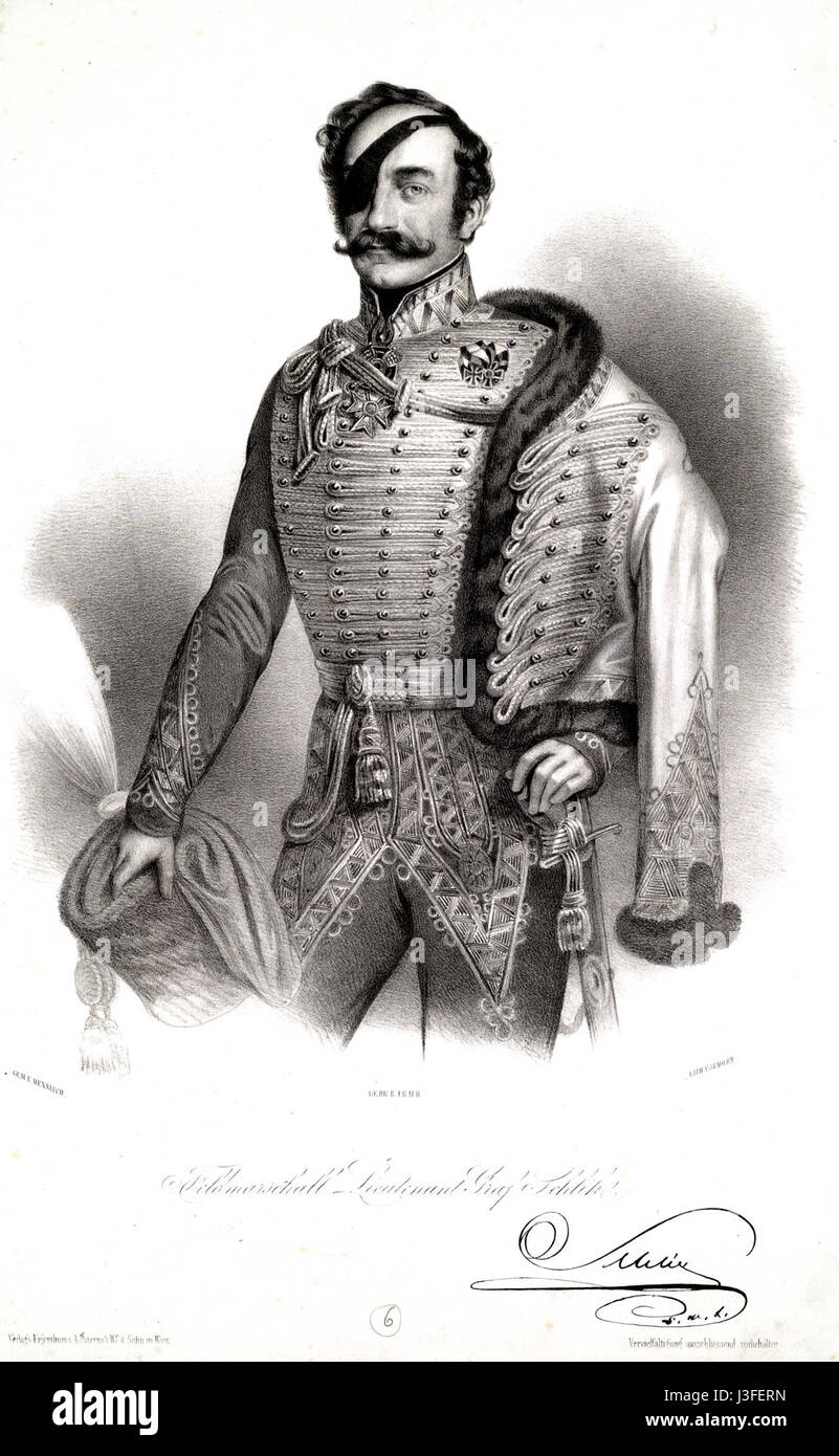 Feldmarschall Lieutenant Graf Schlik - Stock Image