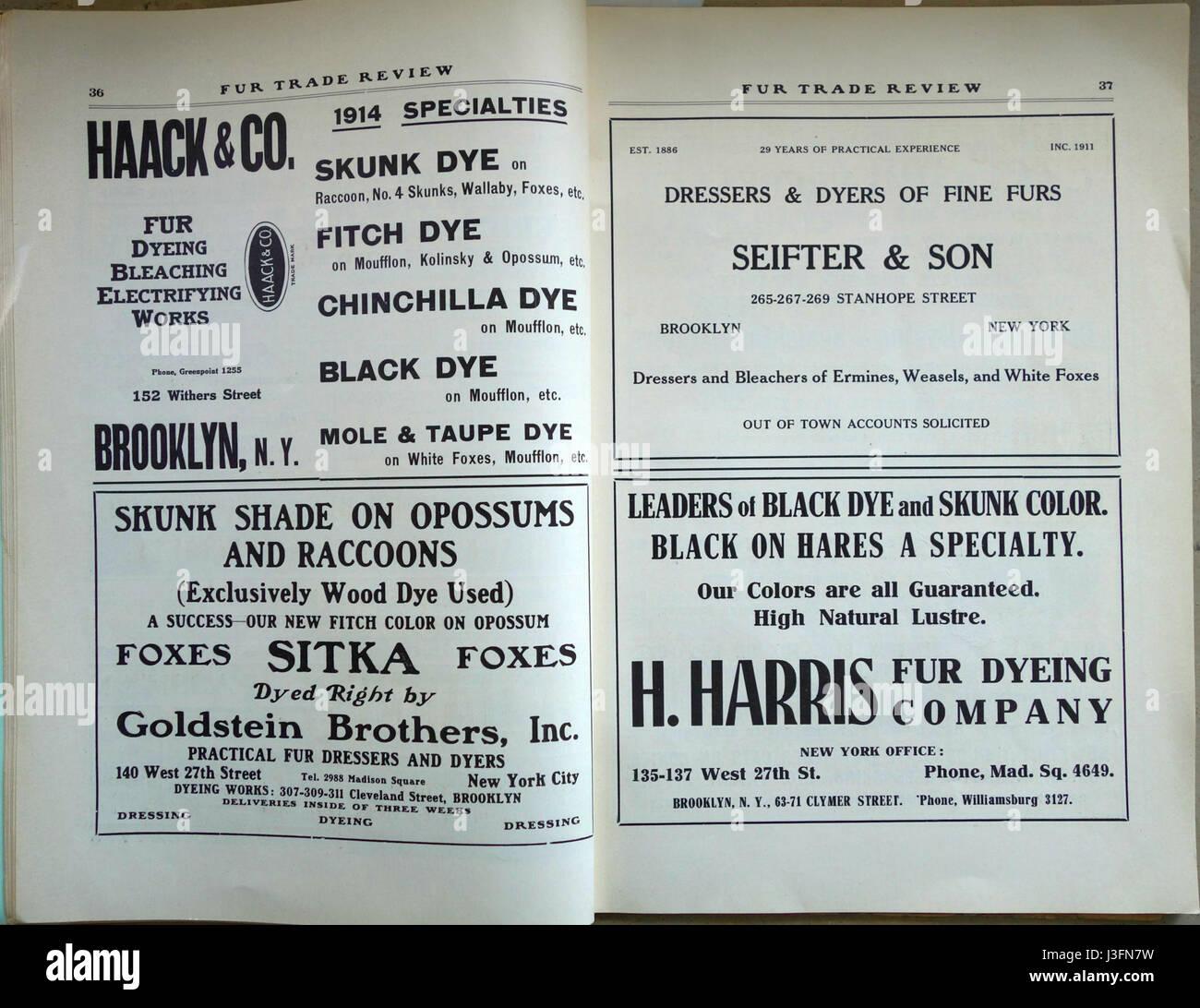 Fur Trade Review November 1914 (19) - Stock Image