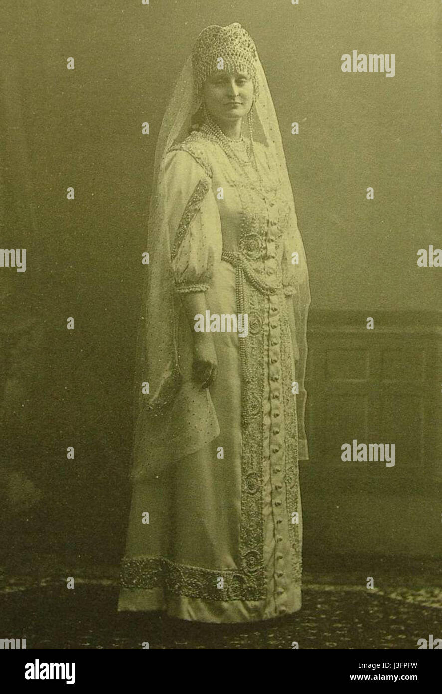 Gendrikova A.V. freilina. 1913. Karl Bulla - Stock Image