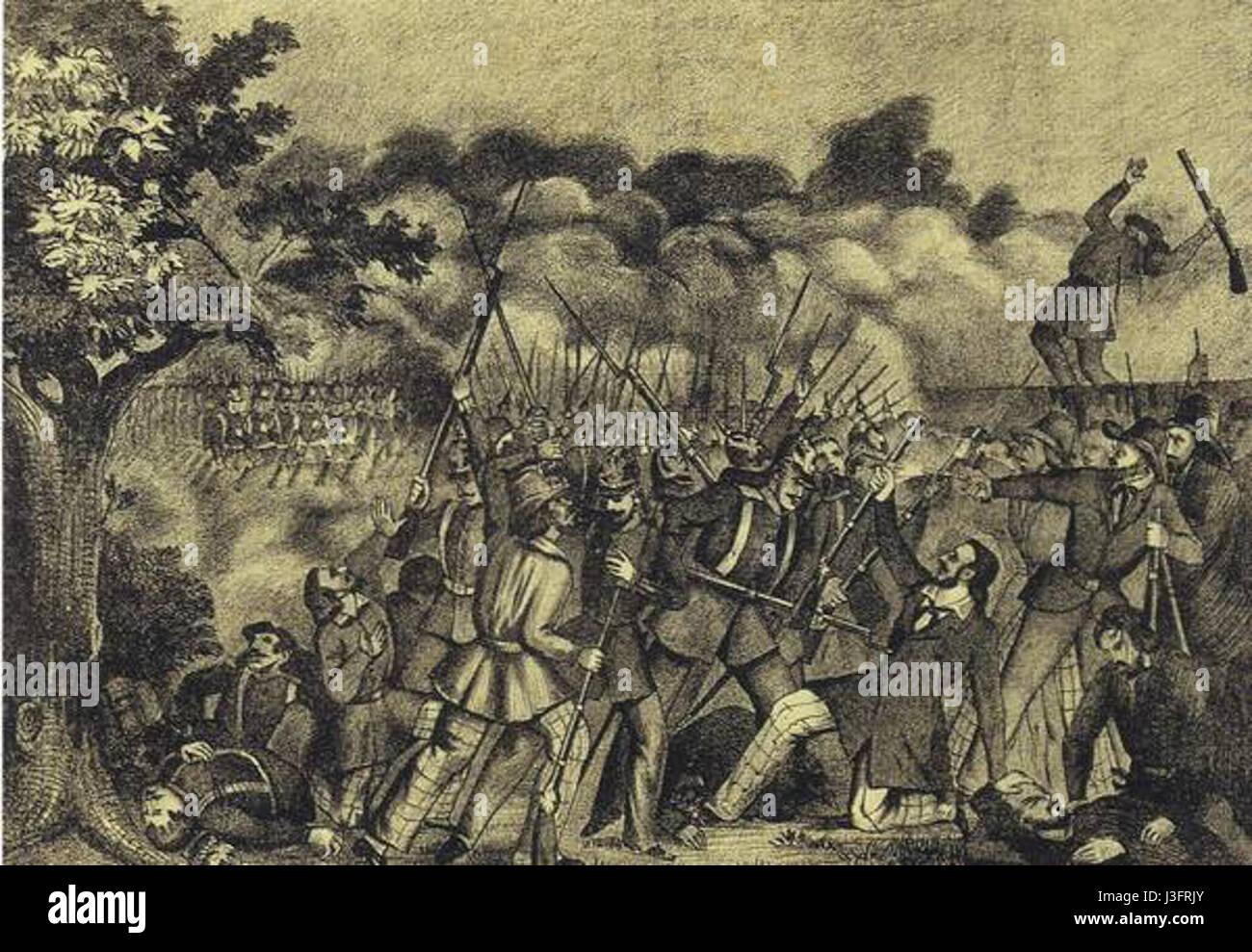 Gefecht Kirchheimbolanden - Stock Image
