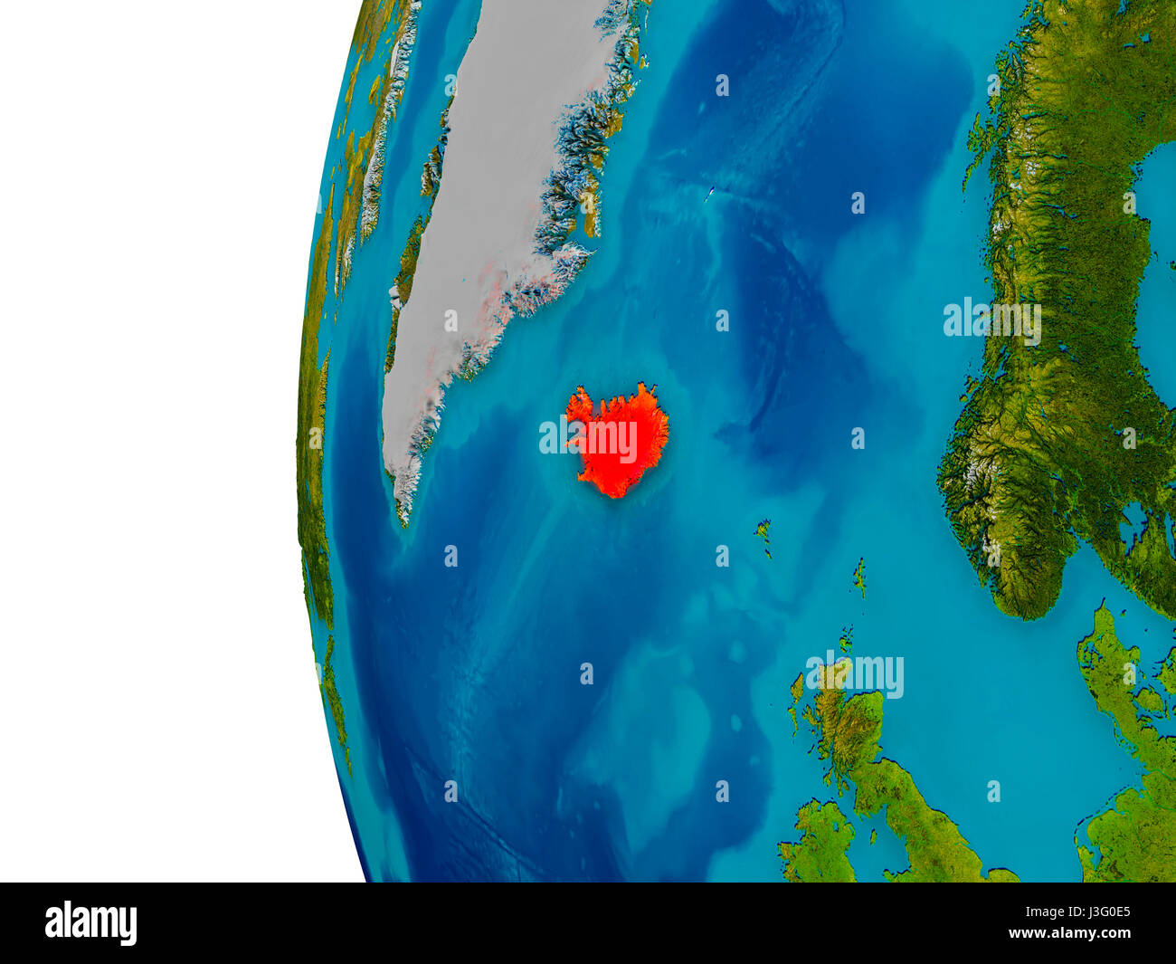 Map satellite geography iceland stock photos map satellite iceland highlighted in red on detailed model of planet earth 3d illustration elements of gumiabroncs Gallery