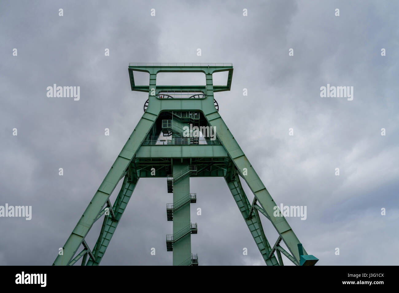 Conveyor tower of the mining museum in Bochum (the most important mining museum in the World and a research institute - Stock Image