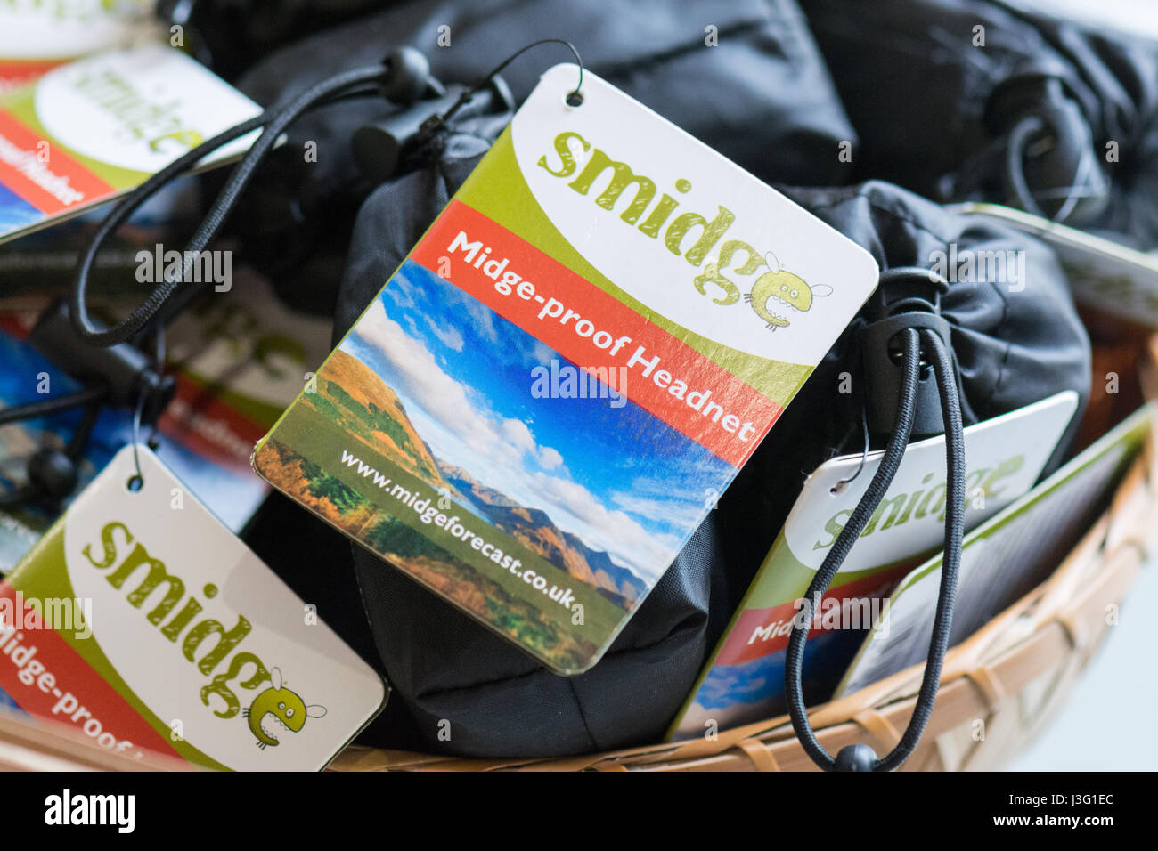 Midge net - Midge proof headnet produced by smidge - Stock Image