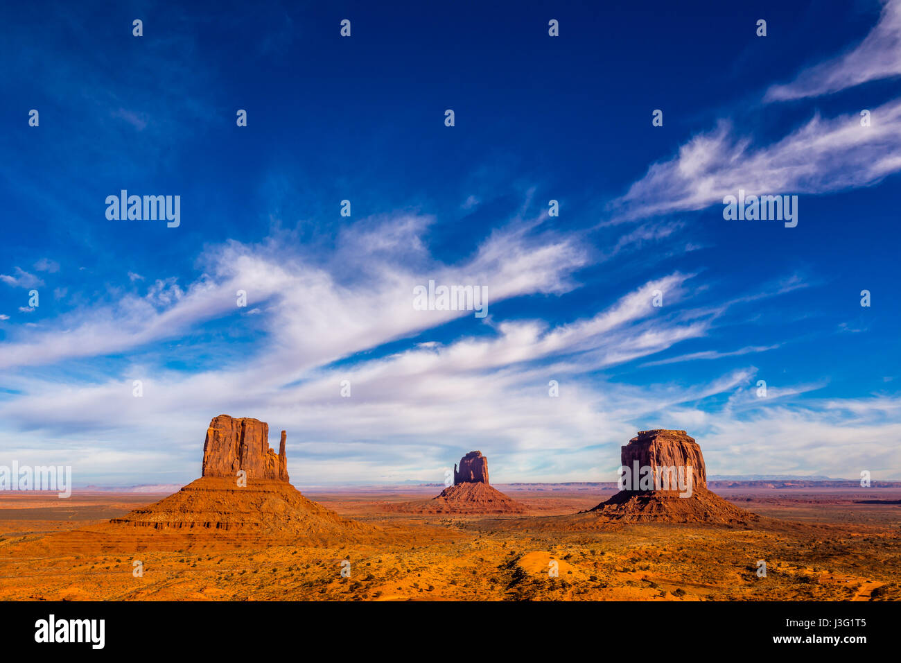 the monument valley Stock Photo