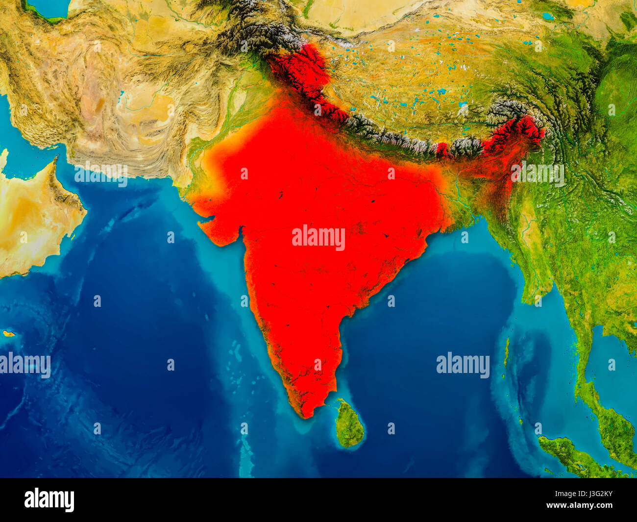 India highlighted in red on physical map 3d illustration elements india highlighted in red on physical map 3d illustration elements of this image furnished by nasa gumiabroncs Image collections