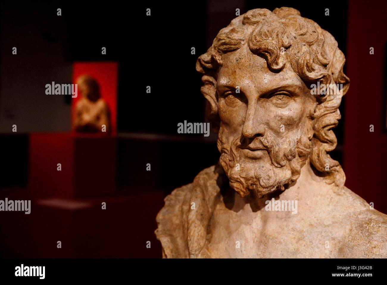 Fano: Show Renaissance secret: St. John the Baptist: Giovan Francesco Rustici. About 1500 Stock Photo