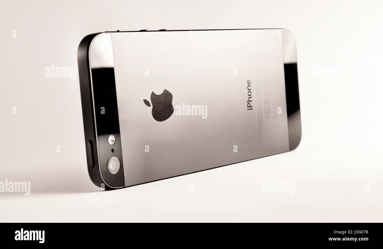 iPhone Black and White - Stock Image