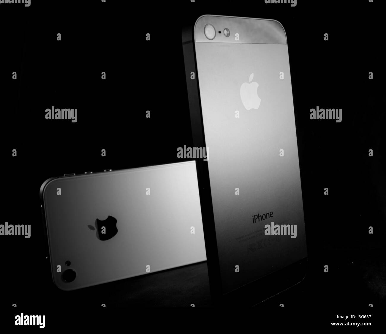 Two iPhones - Stock Image