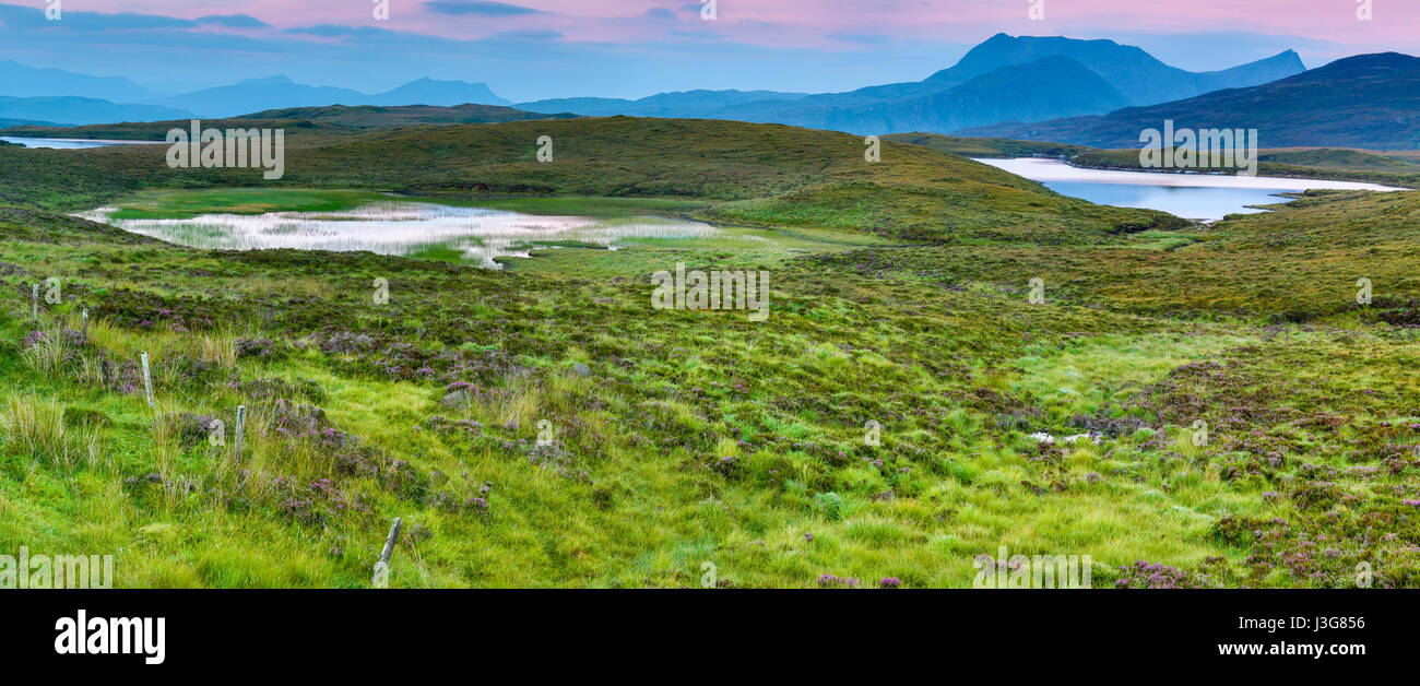 Peat marsh in the highlands of Scotland - Stock Image