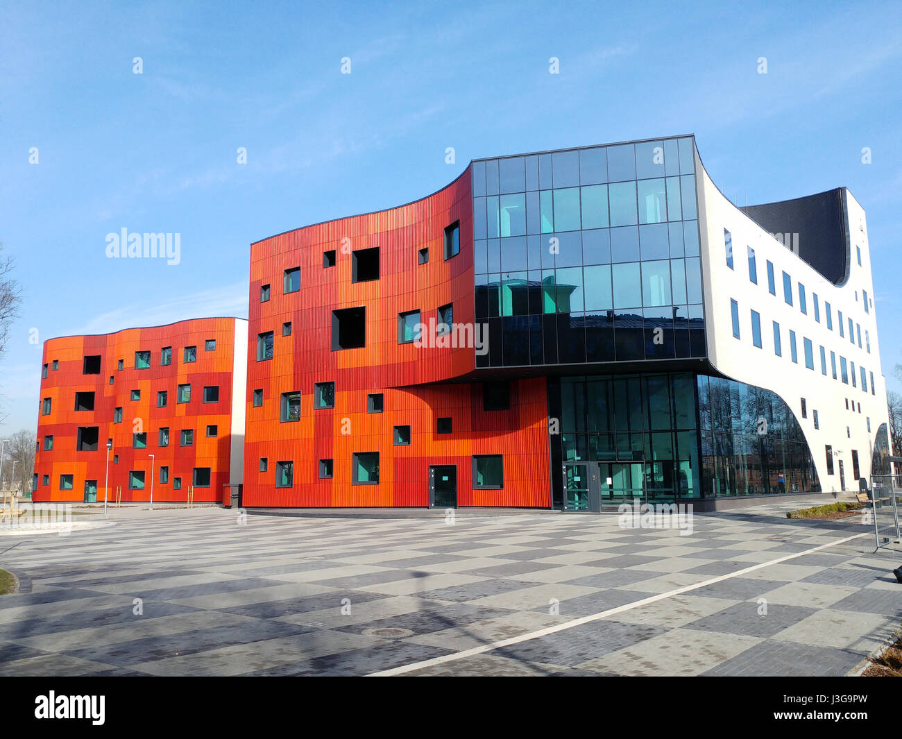 Pauls Stradins Clinical University Hospital, New Block A. April 28,2017. Leading multi-functional university hospital - Stock Image