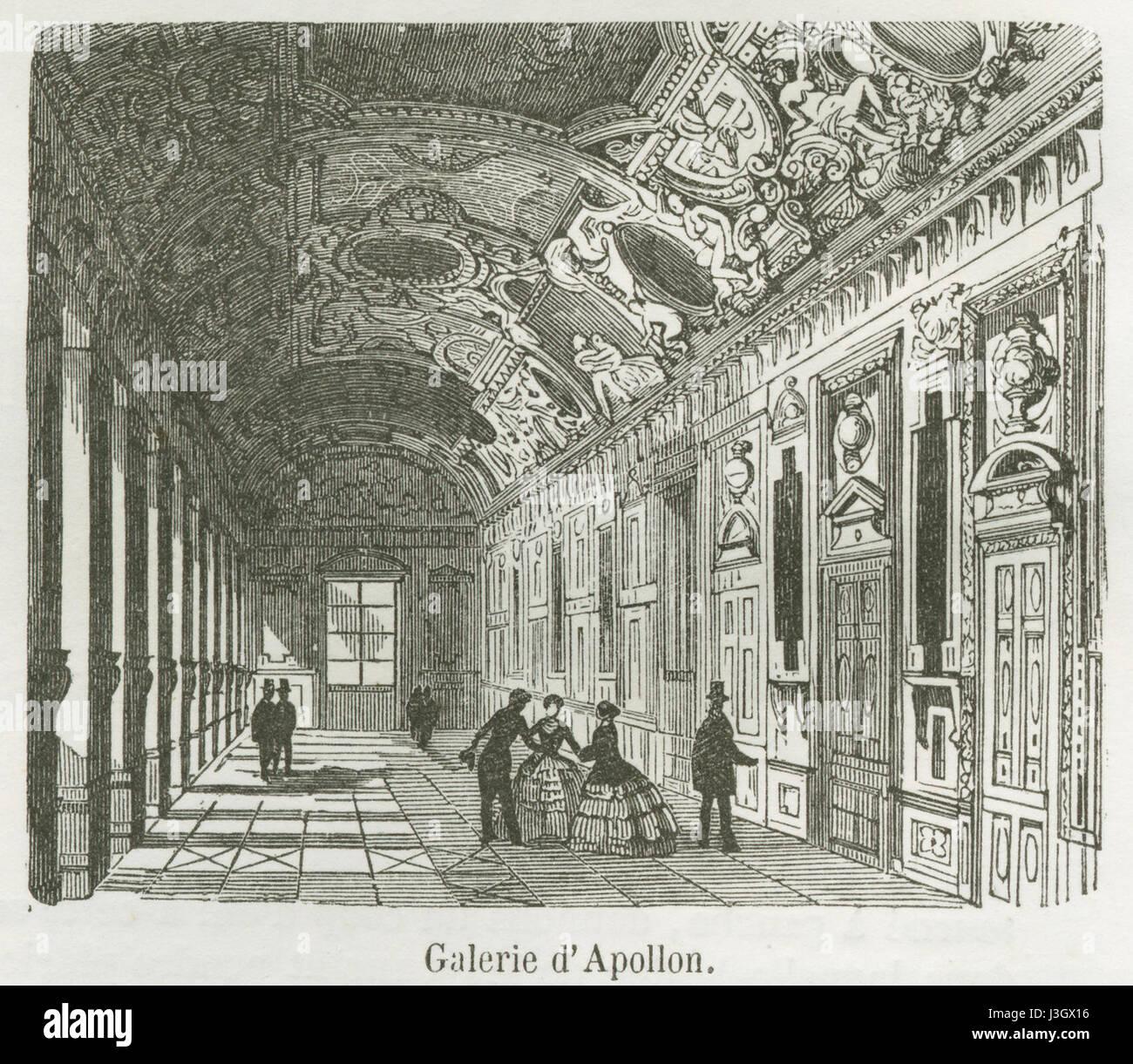 Galerie d'Apollon, 1855 - Stock Image