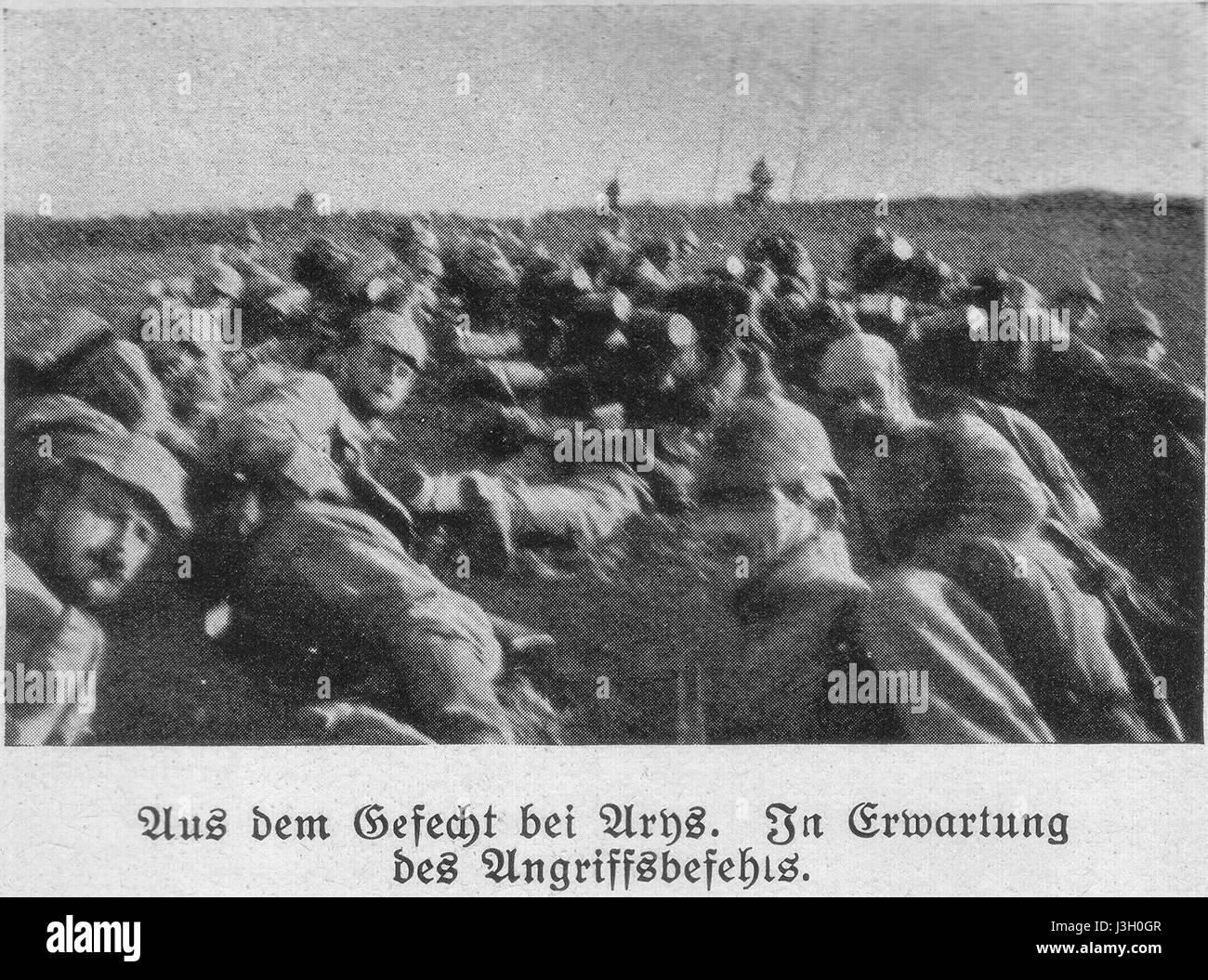 Gefecht bei Arys - Stock Image
