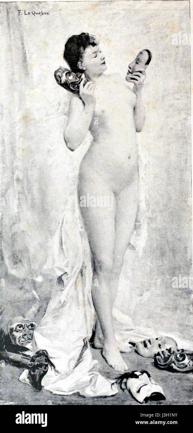 Fernand Le Quesne   La femme aux masques - Stock Image