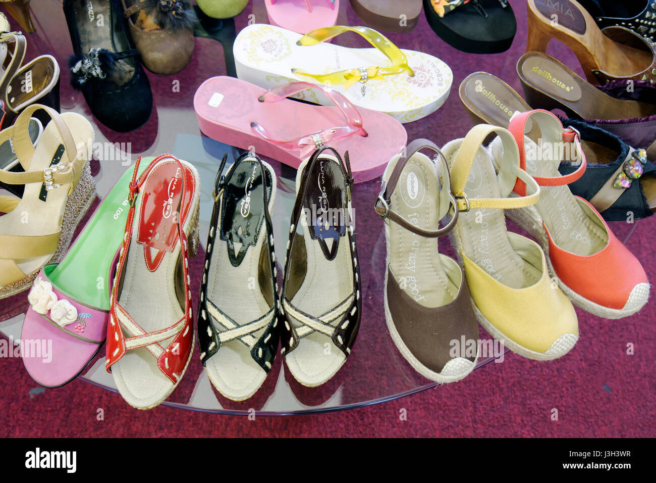 e0b2c6375ca2 Miami Beach Florida Collins Avenue Shoe Freak store retail shoe women s  shoes display sandals brands colors fashion variety foot