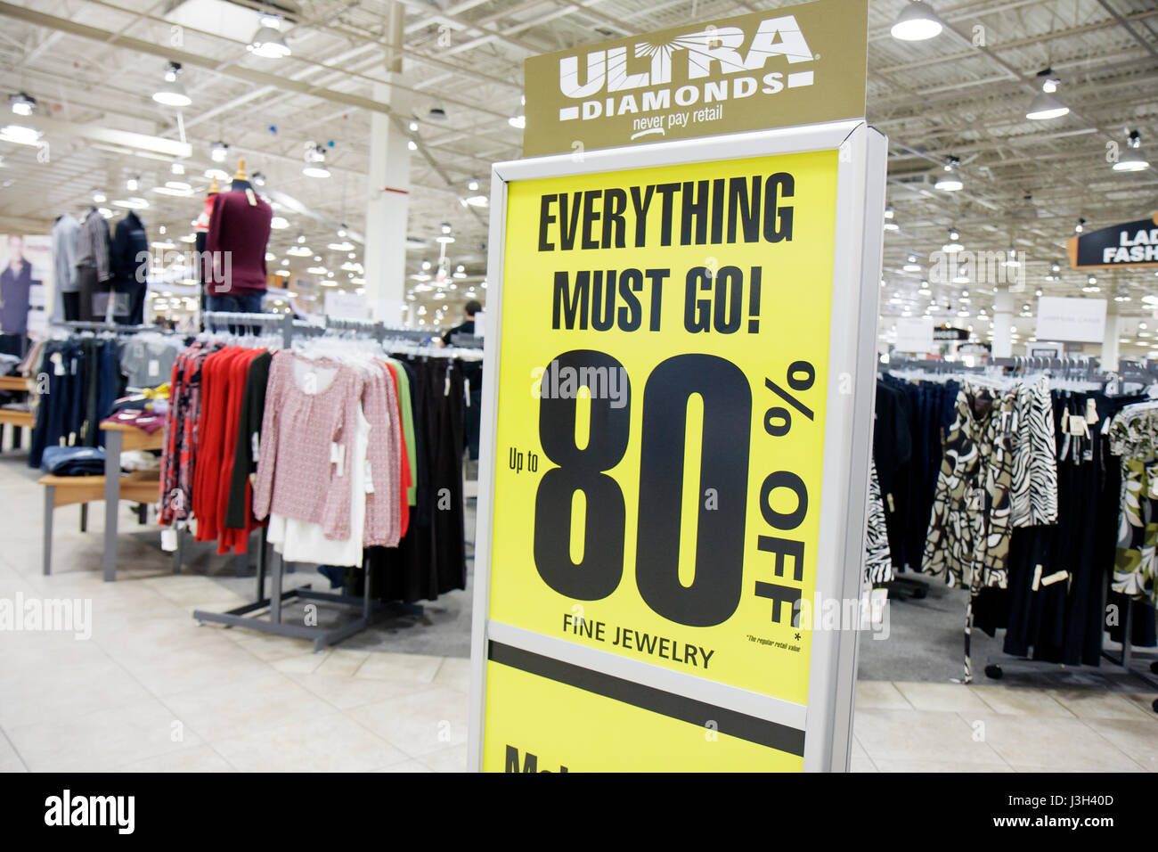 Miami Florida Dolphin Mall Burlington Coat Factory discount outlet sign sale  80% off everything must go fine jewelry clothing bc3f9a1828ccf