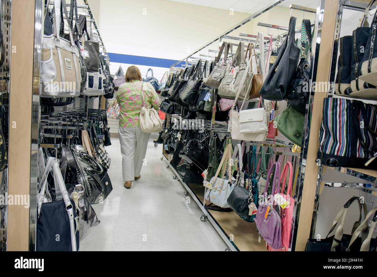 Miami Florida Dolphin Mall Marshall s Department Store discount retail  handbags shopping shopper woman aisle - Stock 608e166be18fd