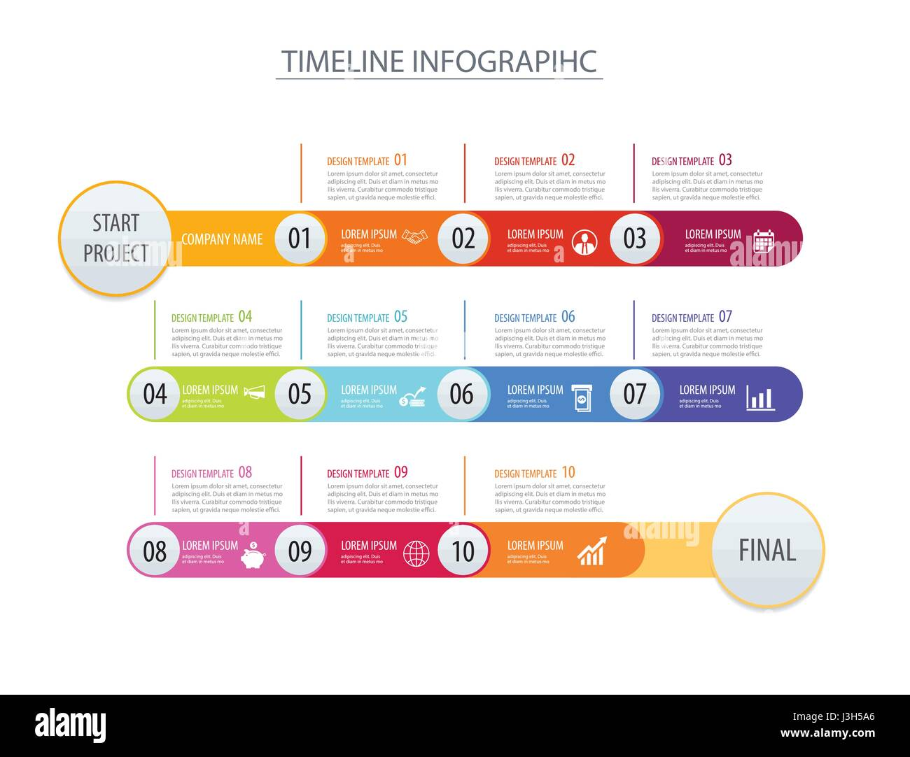 Infographic timeline template business concept arrows ...