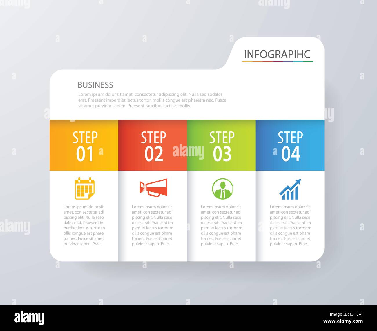 Infographic tab index design vector and marketing template business. Can be used for workflow layout, diagram, annual - Stock Image
