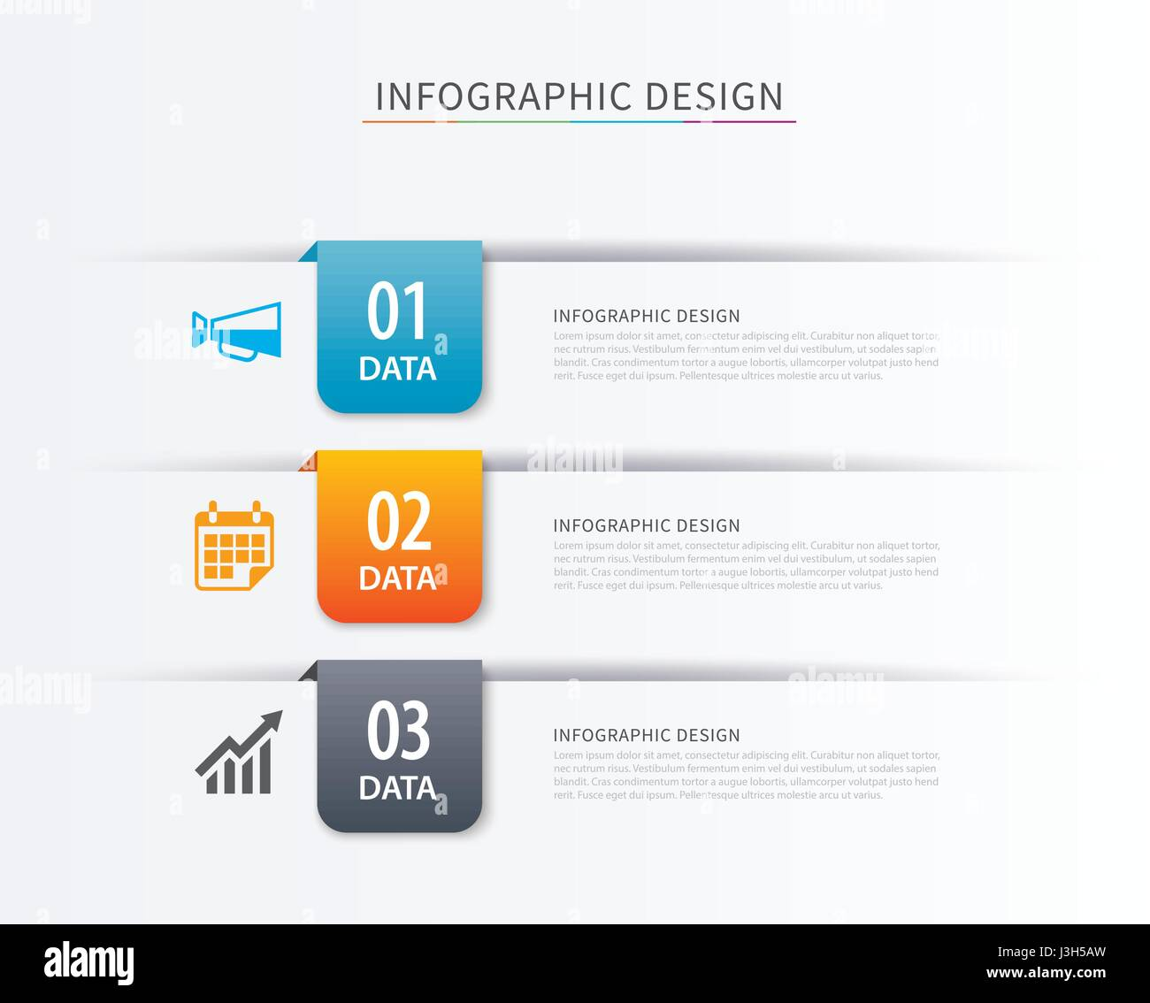 business index infographics template with 3 data can be used for workflow layout diagram