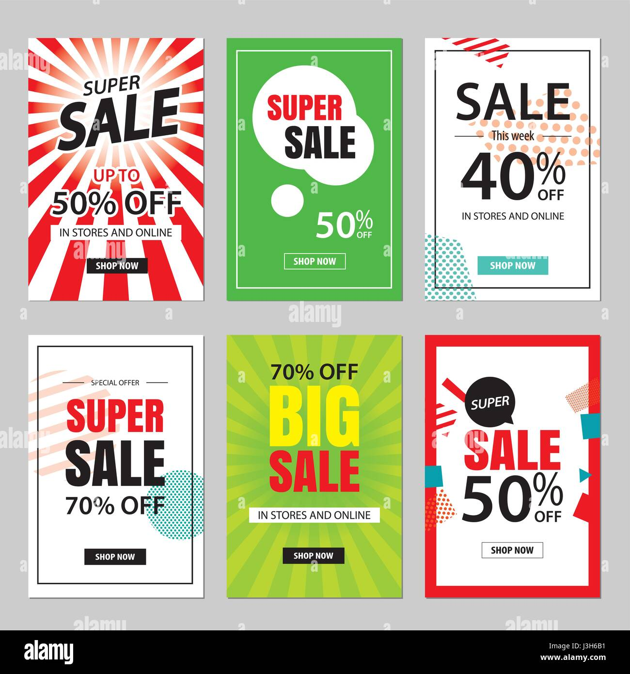 Set of sale website banner templatescial media banners for online set of sale website banner templatescial media banners for online shopping vector illustrations for posters email and newsletter designs ads pr maxwellsz