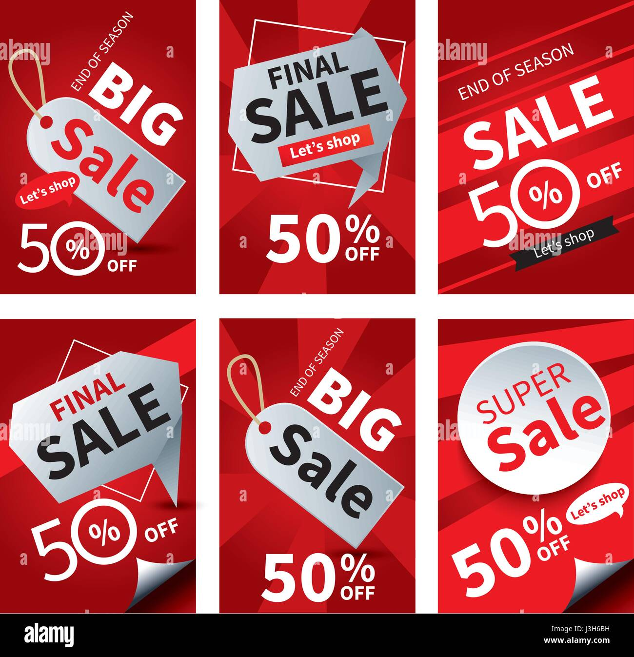 Social Media Sale Banners And Ads Web Template Set Vector Stock Vector Image Art Alamy