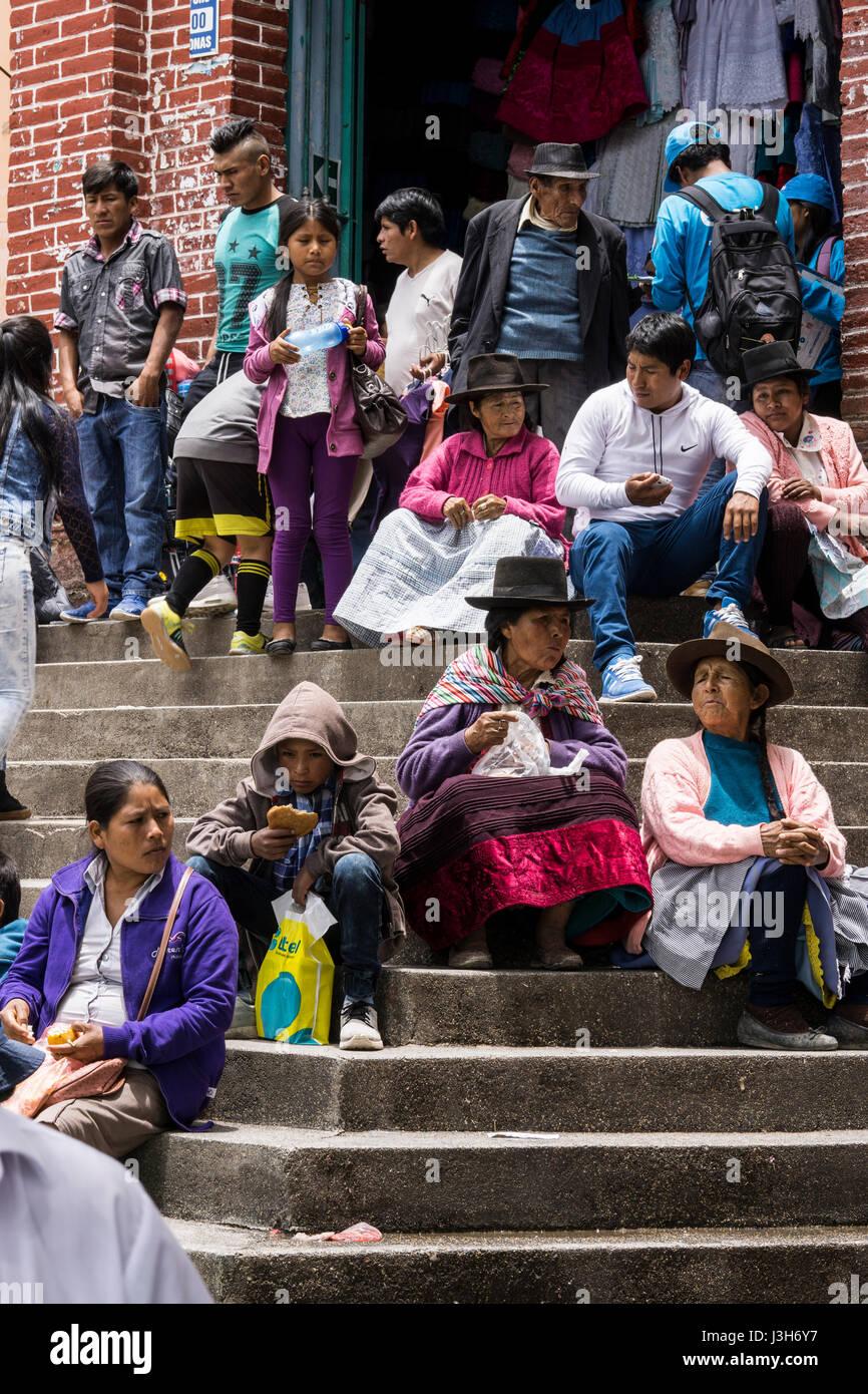 Peruvian people in Ayacucho city, Peru Stock Photo ...