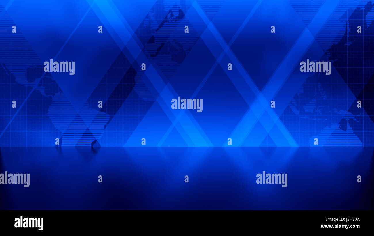 News background in blue rectangles and world map overlapping with news background in blue rectangles and world map overlapping with reflective floor gumiabroncs Images