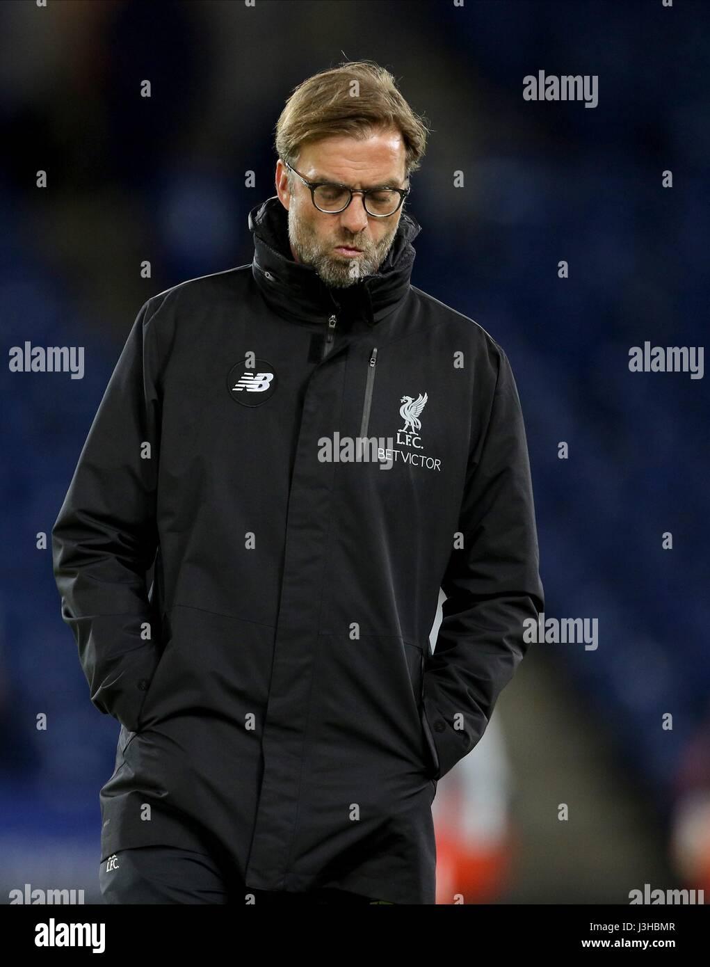 Jurgen Klopp Liverpool Manager King Power Stadium Leicester England Stock Photo Alamy