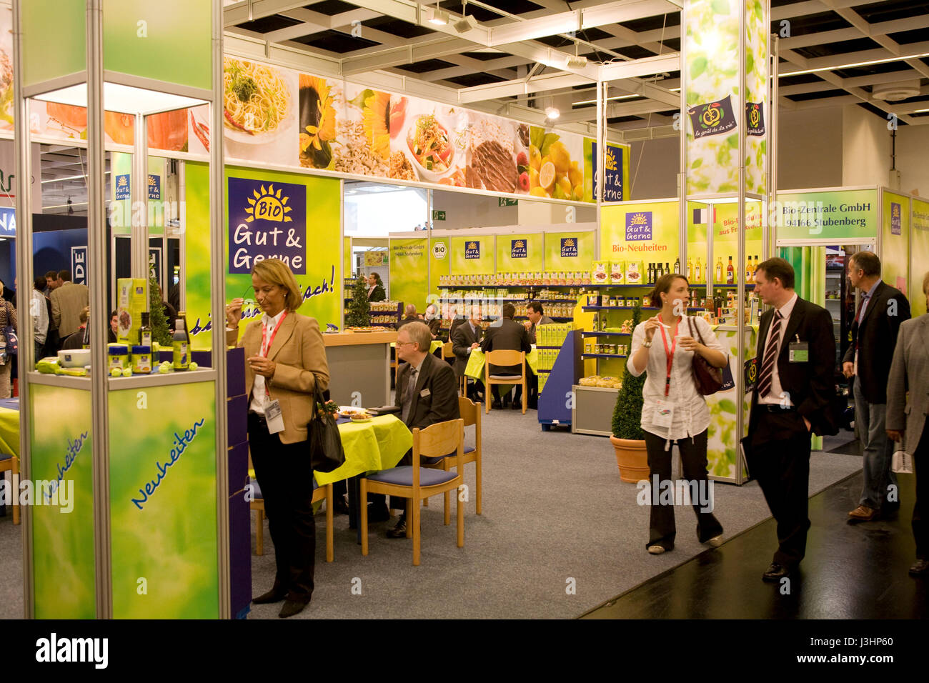 Germany, Cologne, the ANUGA food and beverages trade fair at the exhibition center in the district Deutz, stall - Stock Image