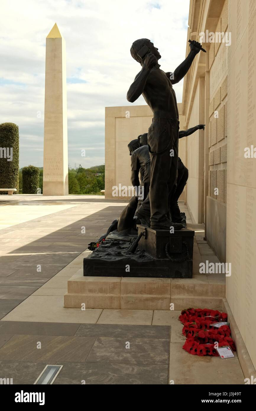 The National Memorial Arboretum honours the fallen, recognises service and sacrifice and fosters pride in our country. - Stock Image