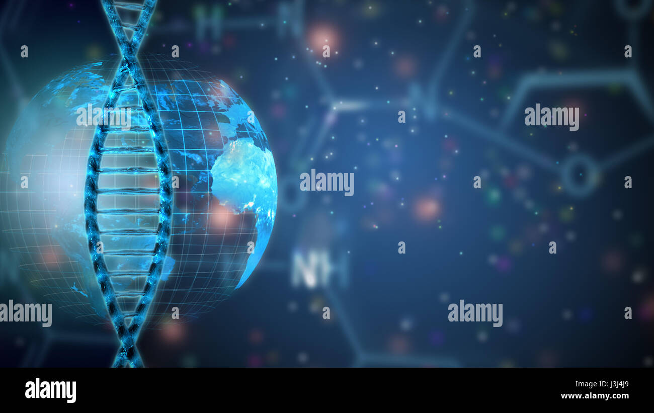 genetics research concept dna helix - Stock Image