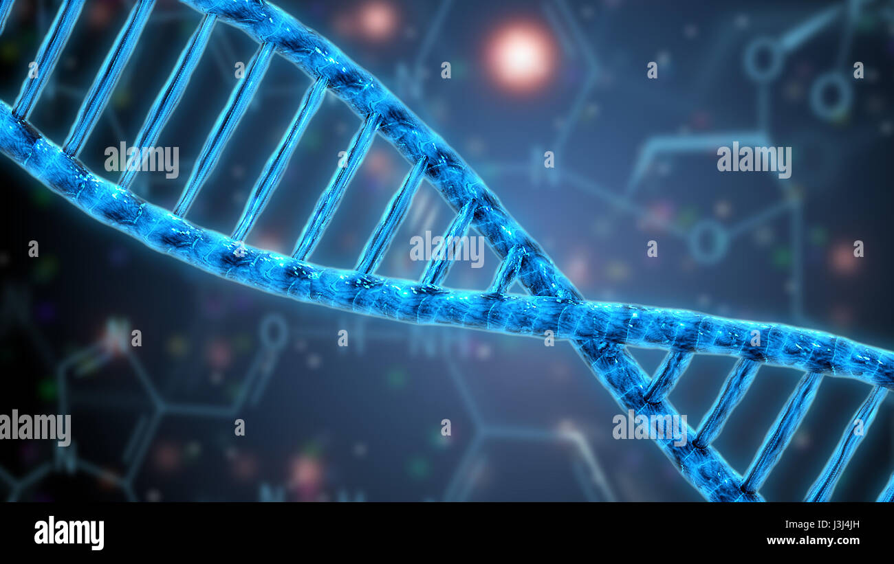dna helix structure genetics science research - Stock Image