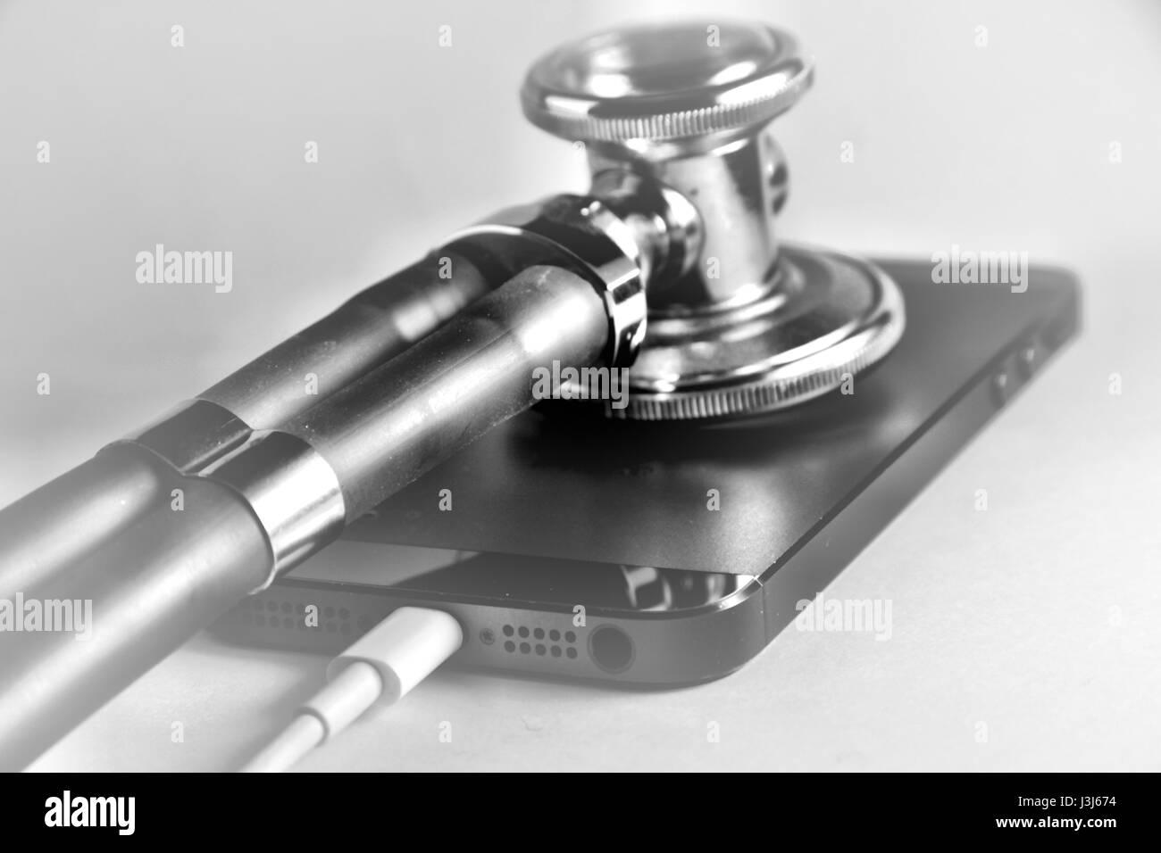 iPhone Repair - Stock Image